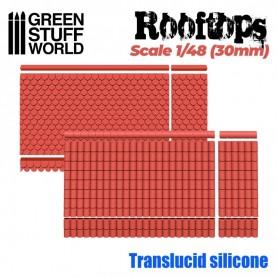 Moldes de Silicona Tejados 1/48 (30mm)