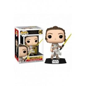 Star Wars Episode IX POP! Movies Vinyl Figura Rey w/ Yellow Saber 9 cm 432