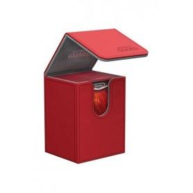 Ultimate Guard Flip Deck Case 80+ Caja de Cartas Tamaño Estándar XenoSkin Rojo