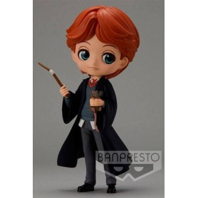 Harry Potter Minifigura Q Posket Ron Weasley with Scabbers 14 cm