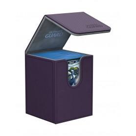 Ultimate Guard Flip Deck Case 100+ Caja de Cartas Tamaño Estándar XenoSkin Violeta