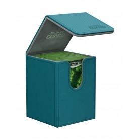 Ultimate Guard Flip Deck Case 100+ Caja de Cartas Tamaño Estándar XenoSkin Gasolina Azul