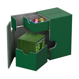 Ultimate Guard Flip´n´Tray Deck Case 100+ Caja de Cartas Tamaño Estándar XenoSkin Verde