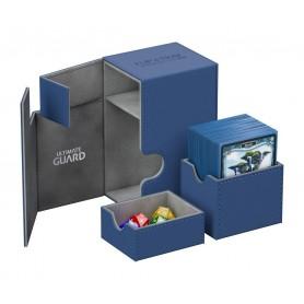 Ultimate Guard Flip´n´Tray Deck Case 80+ Caja de Cartas Tamaño Estándar XenoSkin Azul