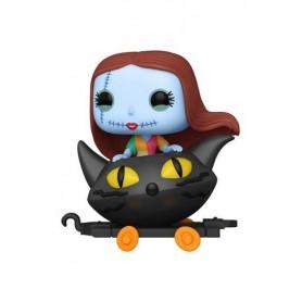 Pesadilla antes de Navidad Figura POP! Disney Train Cart Vinyl Sally in Cat Cart 9 cm 08