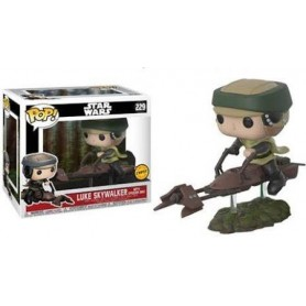 Figura Funko Pop! Luke Skywalker With Speeder Bike 229 CHASE