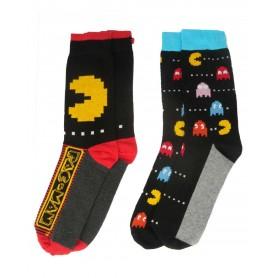 Pac-Man Pack de 2 Pares de calcetines hombre
