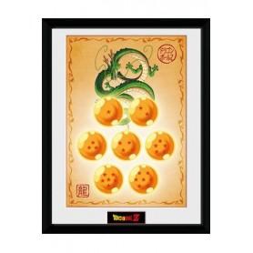 Dragonball Z Póster Enmarcado Dragon Balls 45 x 34 cm