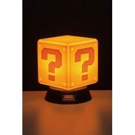 lámpara 3D Question Block Super Mario 10 cm