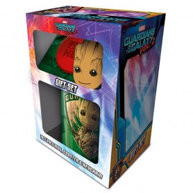 Pack regalo taza llavero Groot Guardianes de la Galaxia Marvel