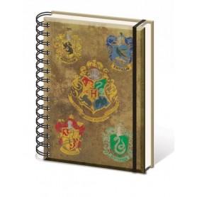 Harry Potter Libreta A5 Hogwart's Crests