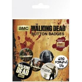 Walking Dead Pack 6 Chapas Mix