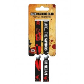 Walking Dead Pack de 2 Pulseras de festival The Saviors