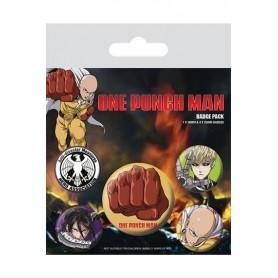 One Punch Man Pack 5 Chapas Destructive