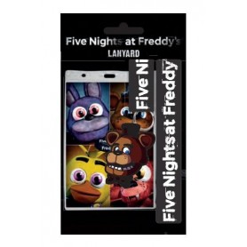 Five Nights At Freddy's Llavero Con Cinta & Llavero Caucho Faz Bear