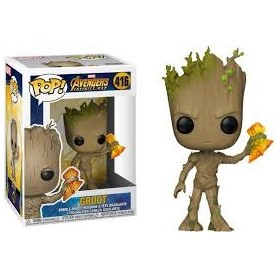 Avengers Infinity War Figura POP! Movies Vinyl Groot with Stormbreaker 9 cm
