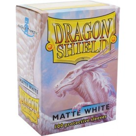 FUNDAS STANDARD DRAGON SHIELD MATTE COLOR BLANCO - PAQUETE DE 100
