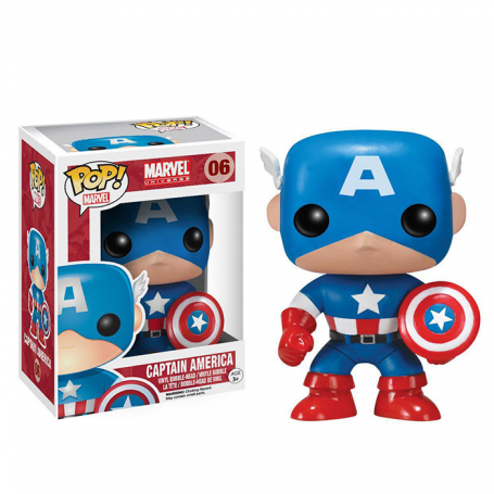 Marvel Comics POP! Vinyl Cabezón Captain America 10 cm