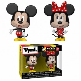 Disney Pack de 2 VYNL Vinyl Figuras Mickey Mouse & Minnie Mouse 10 cm
