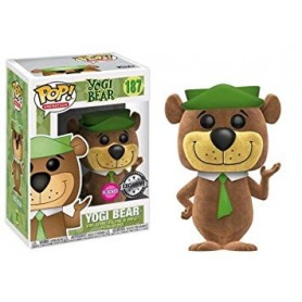 Hanna-Barbera POP! Animation Vinyl Figura Yogi Bear (Flocked) 9 cm