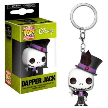Llavero Pocket POP Disney Pesadilla Antes de Navidad Dapper Jack Exclusive
