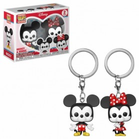 Disney Pack de 2 Llaveros Pocket POP! Vinyl Mickey & Minnie 4 cm