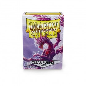 FUNDAS STANDARD DRAGON SHIELD COLOR CLEAR PURPLE MATTE - PAQUETE DE 100