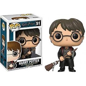 Harry Potter POP! Movies Vinyl Figura Harry with Firebolt & Feather 51