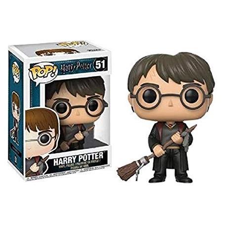 Harry Potter POP! Movies Vinyl Figura Harry with Firebolt & Feather 51