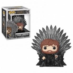 Juego de Tronos POP! Deluxe Vinyl Figura Tyrion Sitting on Iron Throne 71