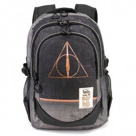 Mochila Harry Potter Deathly Hallows Black 44cm