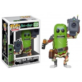 Rick y Morty POP! Animation Vinyl Figura Pickle Rick with Laser 9 cm