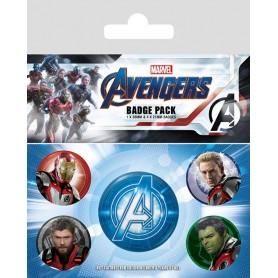 Vengadores: Endgame Pack 5 Chapas Quantum Realm Suits