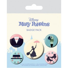 Mary Poppins Pack 5 Chapas