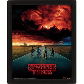 Stranger Things Efecto 3D Póster Enmarcado Mind Flayer 26 x 20 cm