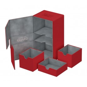 Ultimate Guard Twin Flip´n´Tray Deck Case 200+ Caja de Cartas Tamaño Estándar XenoSkin Rojo