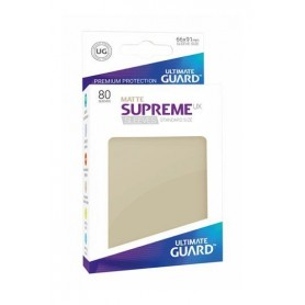 Ultimate Guard Supreme UX Sleeves Fundas de Cartas Tamaño Estándar Beige Mate (80)