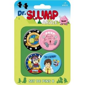 Dr. Slump Pack 4 Chapas Set B