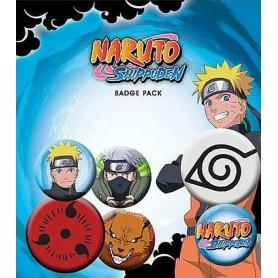 Naruto Shippuden Pack 6 Chapas Mix