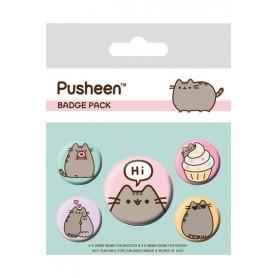 Pusheen Pack 5 Chapas Pusheen Says Hi