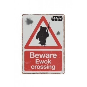 Star Wars Placa de Chapa Ewok 21 x 15 cm