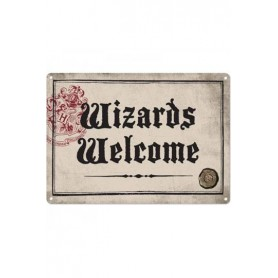 Harry Potter Placa de Chapa Wizards Welcome 21 x 15 cm