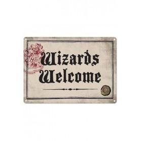 Harry Potter Placa de Chapa Wizards Welcome 21 x 15 cm