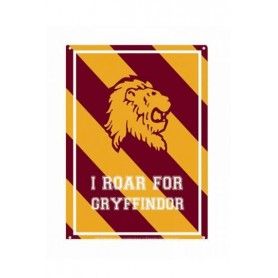 Harry Potter Placa de Chapa Roar Gryffindor 21 x 15 cm