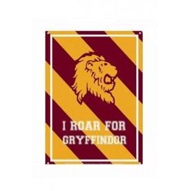 Harry Potter Placa de Chapa Roar Gryffindor 21 x 15 cm