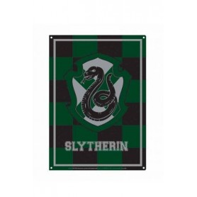 Harry Potter Placa de Chapa Slytherin 21 x 15 cm