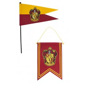 Harry Potter Set Banderín & Bandera Gryffindor