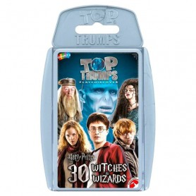Juego cartas Harry Potter 30 Brujas y Magos Top Trumps