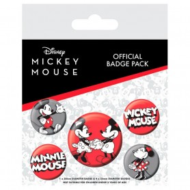 Set 5 chapas Mickey Disney