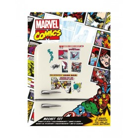 Marvel Comics Set de Imanes Retro Heroes